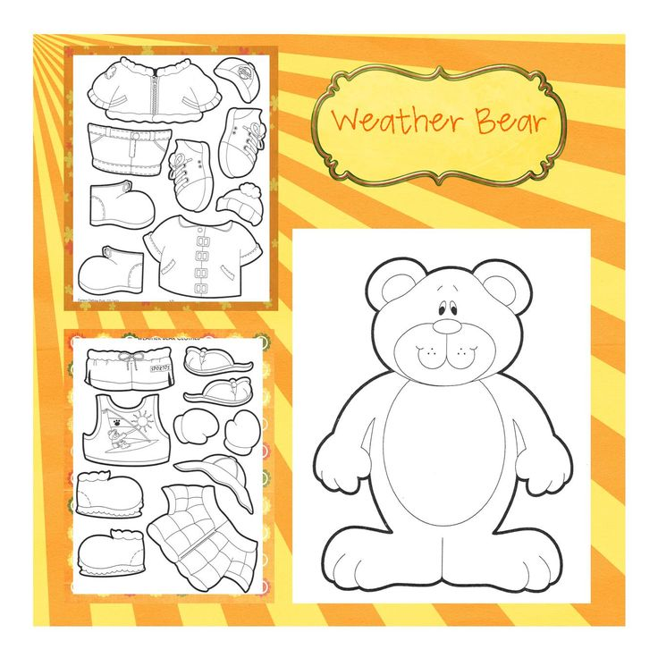 Printable Weather Bear Template HANDAN BÖRÜTEÇENE cakepins.com