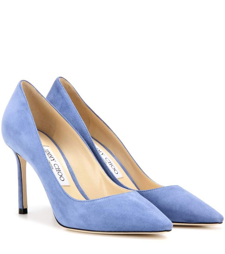 JIMMY CHOO Romy 85 Suede Pumps. #jimmychoo #shoes #pumps