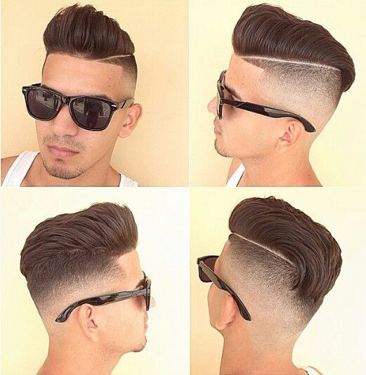 High fade comb over
