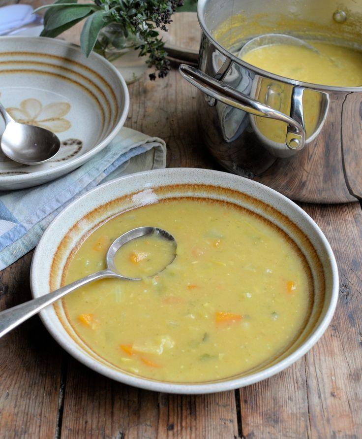 Curried Autumn Veg Soup. 90 cal