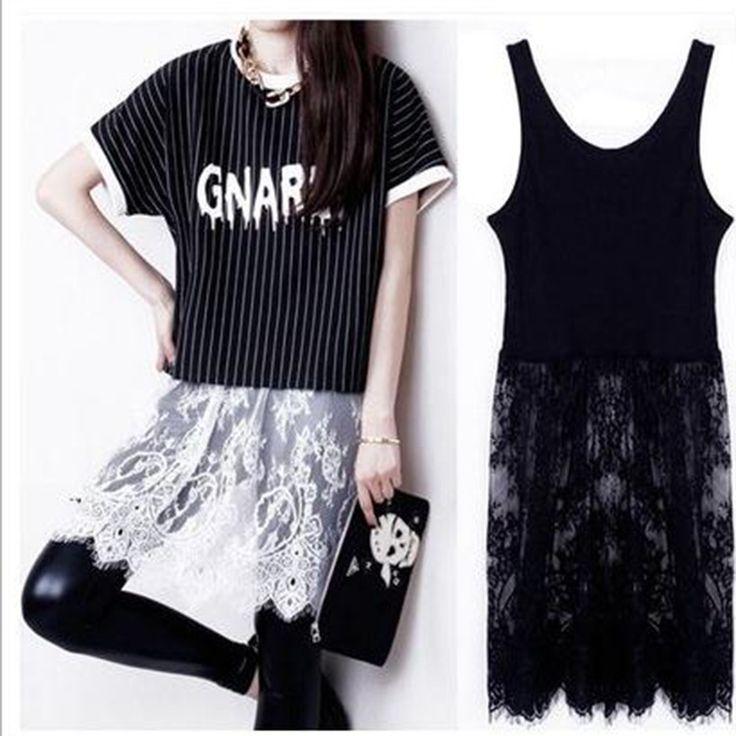 Dress Vestido Punk Harajuku Lace Sexy summer dress 2017 new fashion spring summer women elegant Beautiful cheap dresses Sale