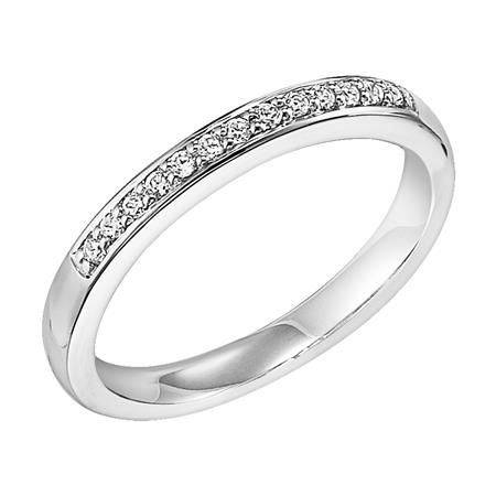 Diamond Wedding Band Bead Set In A Channel Desing White Gold Frederick