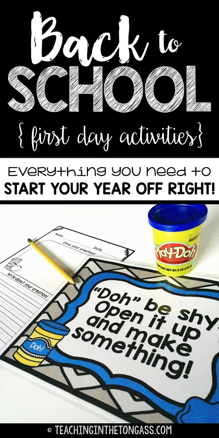 Back to school! First day of school activities that allow you to deal with the…