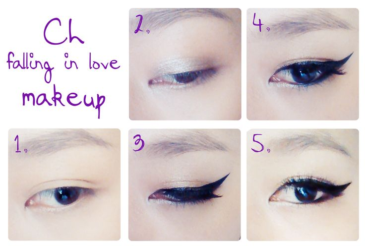 A simple step to do CL falling in love makeup :) eye-shadow -------> eyeliner --------> undereyeliner --------> highlight ⭐️⭐️ www.AsianSkincare.Rocks