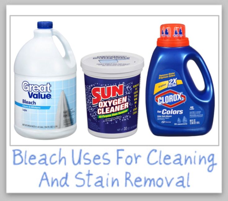 'Bleach Uses For Cleaning, Laundry & Stain Removal...!' (via stain-removal-101.com)