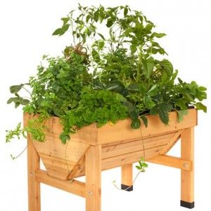 Mesas de cultivo de madeira