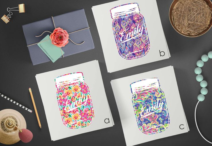Mason jar decal - lilly Monogram decal - cute tumbler decal - cute laptop decal - stickers for cars - car window decal - bumper stickers by PersonalGiftsbyLuna on Etsy https://www.etsy.com/listing/499441214/mason-jar-decal-lilly-monogram-decal
