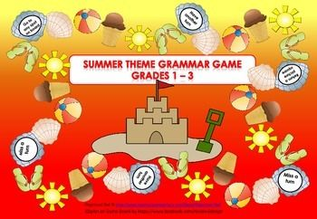 Having fun while learning!  This game is specifically aimed at Grades 1 - 3 and students under support to develop common grammar understandings in a fun way, but it also depends on individual abilities.   The game is great for Work Stations, Early Finishers and a great resource for the Relief / Substitute / Temp Teacher.  Grammar Covered: Adjectives Verbs Rhyming Words Vowels Nouns