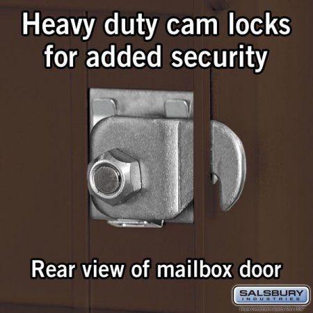 4C Horizontal Mailbox - 10 Door High Unit (37 1/2 Inches) - Double Column - 10 MB1 Doors / 2 PL's - Bronze