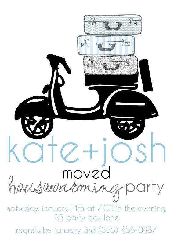 House Warming Invite- Moved Design (20 printed)