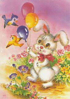 Papéis de Carta: papel 31 Vintage Pictures, Cute Pictures, Cute Animals Images, Holly Hobbie, Gif Animé, Cute Bears, Cute Bunny, Cute Illustration, Gifs