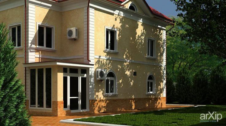 Реконструкция фасада коттеджа #3d_visualization #Construction #landscape #PHRASE_44547