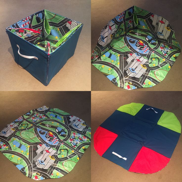 Play, zip & store ... Handmade play mat that zips up into a storage box