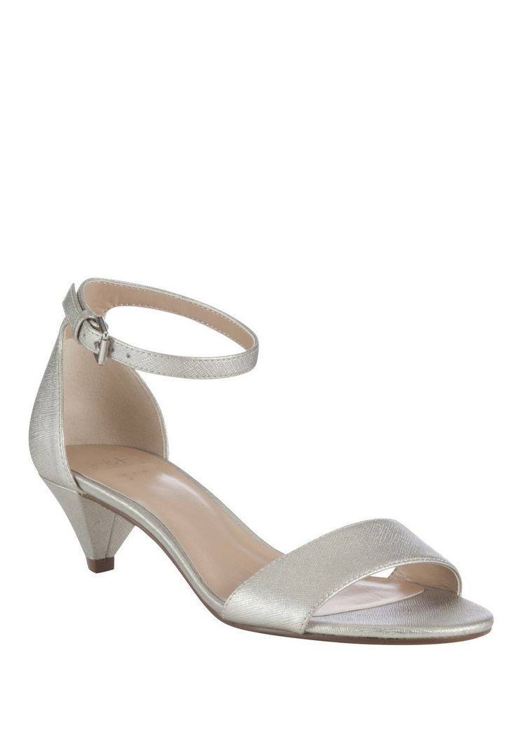 Clothing at Tesco | F&F Metallic Kitten Heel Sandals > shoes > Shoes & Boots > Women