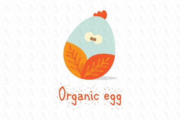 organic egg - $275 http://www.stronglogos.com/product/organic-egg #logo #design #sale #organic #egg #chicken #farm #incubator #supermarket