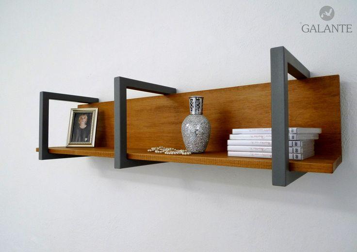 wall shelf - combination of iron and wood