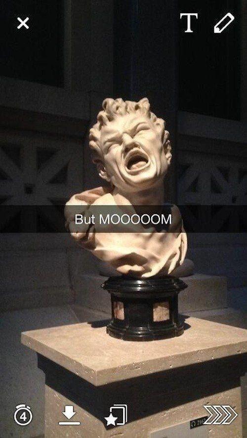 But MOOOOOM. 29 art history Snapchats that will give you life