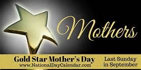 gold star mother's day - Bing