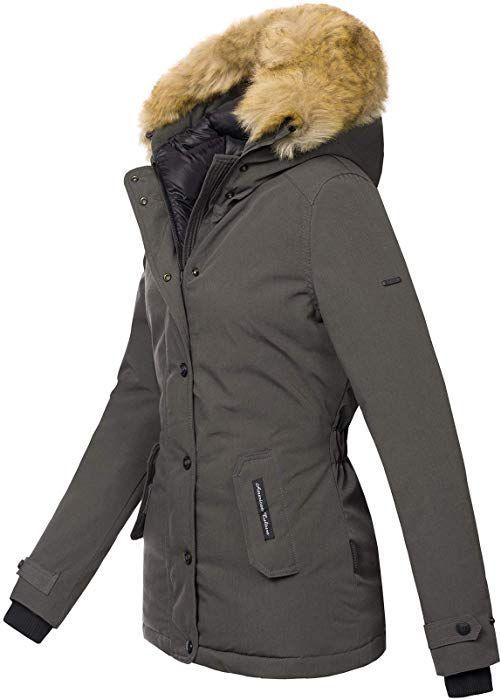 Navahoo warme Damen Winter Jacke Winterjacke Parka Mantel