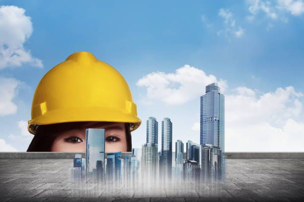 civil engineer tools during worked at home office with white - civil engineer