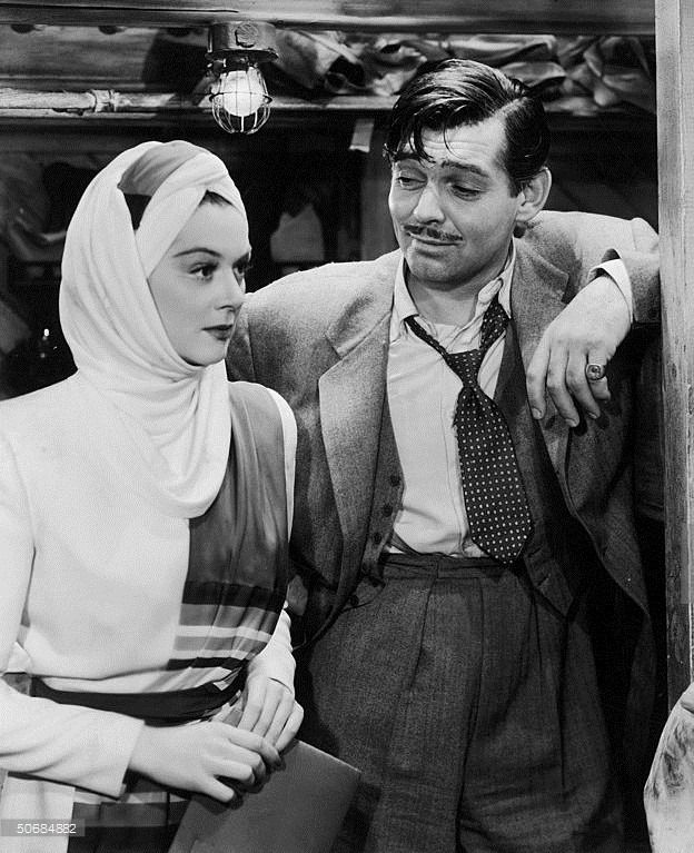Rosalind Russell & Clark Gable - They met in Bombay(1941)