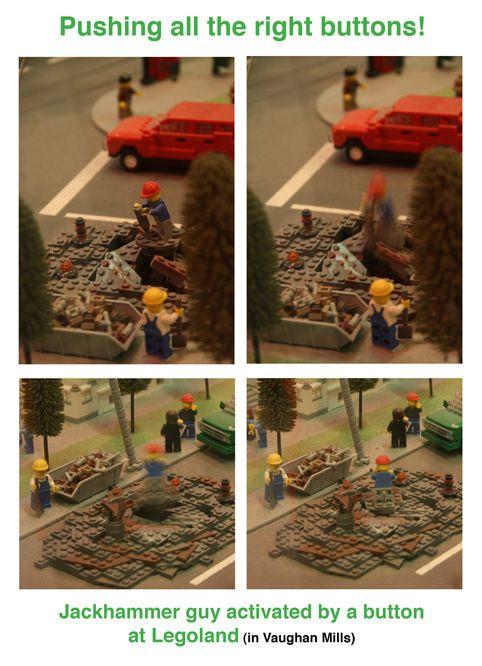 Toronto Fun Places: I-SPY a jackhammer guy at Legoland