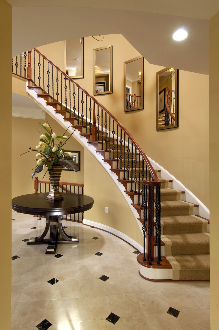 13 best foyers stairways images on pinterest ladders for Popular paint colors for foyers