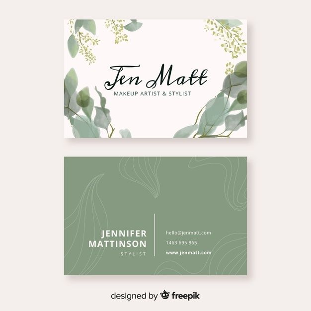 Download Watercolor Floral Business Card Template For Free Business Card Layout Design Business Cards Layout Floral Business Cards