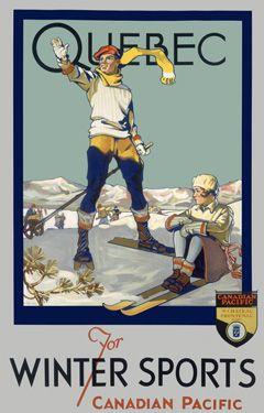 Canadian Pacific Quebec Ski Canada Fine Art Giclee Print