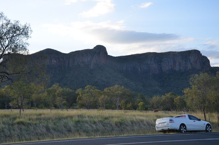 The life on a highway near Springsure qld. The mountain of virgin marry. F/8 ISO 200 Exposure 1/250 sec