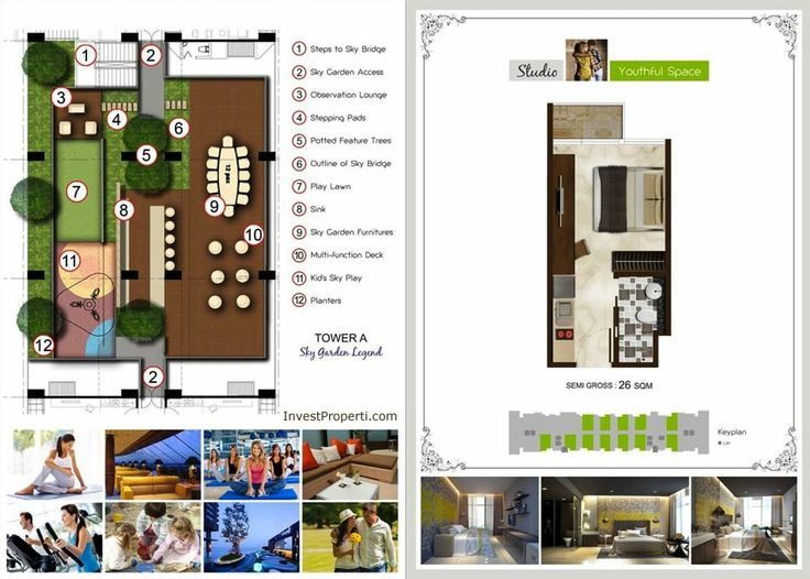 Puri Mansion Apartment Tower A Site Plan.