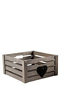 LARGE CRATE WITH CHALKBOARD HEART DETAIL