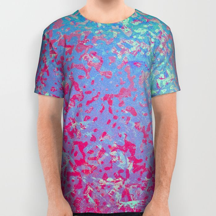 SOLD All Over Print Shirt Colorful Corroded Background G284 https://society6.com/product/colorful-corroded-background-g284_all-over-print-shirt#s6-3142795p44a57v423 #society6 #AllOverPrint #Shirt #print #Colorful #Corroded #Background #wall #grunge #blue #red