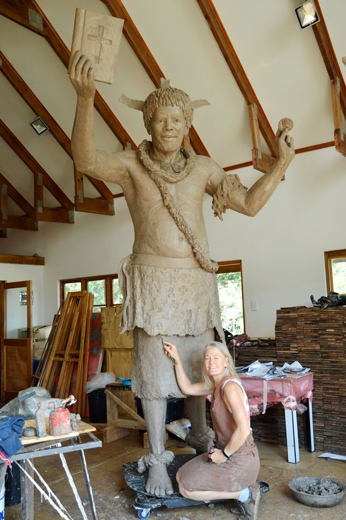 Ready to be sent to have the mould prepared.  http://www.sarahrichards.co.za/bronze-sculptures.html