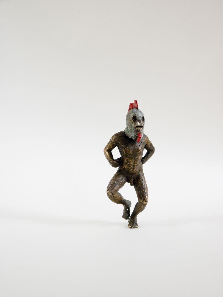 """Danzad, Danzad Malditos""  Esculturas de bronce policromado."