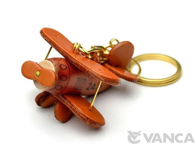 Propeller Airliner Leather Keychain(L)