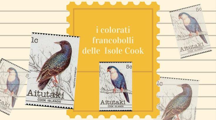 colorati francobolli delle Isole Cook