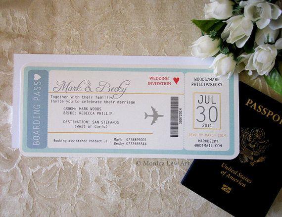 36 best wedding invitations images on Pinterest Boarding pass - best of wedding invitation card kota kinabalu