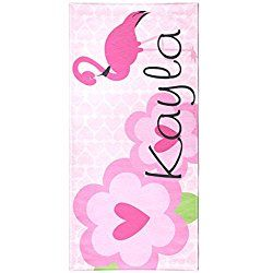 Tin Tree Gifts Customized Beach Towel Pink Flamingo