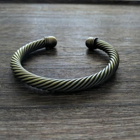 Adjustable Brass Stacking Bracelet (thick)