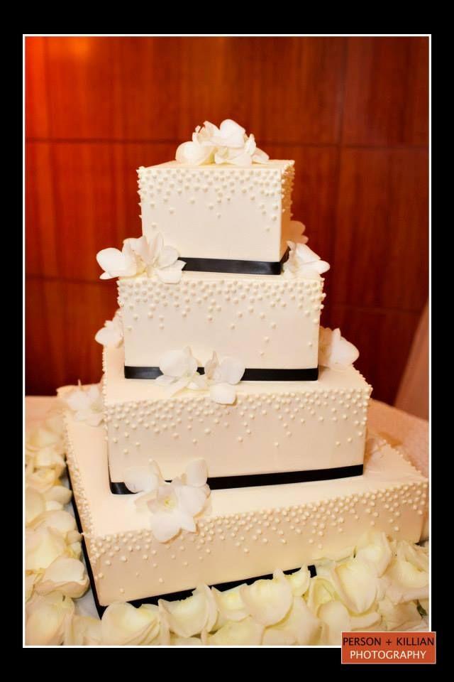 Boston Wedding Photography, Boston Event Photography, Black and White Wedding Cake, Classic Wedding Cake, Elegant Wedding Cake, Square Wedding Cake, Boston Wedding Cake Inspiration, Cakes to Remember Boston