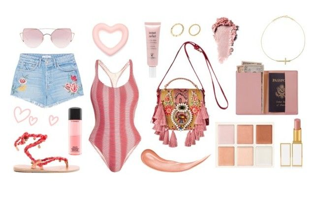 """""""🔥"""" by vannaarreola ❤ liked on Polyvore featuring Royce Leather, Tom Ford, Sisley, MAC Cosmetics, Solid & Striped, GRLFRND, Ancient Greek Sandals and LMNT"""