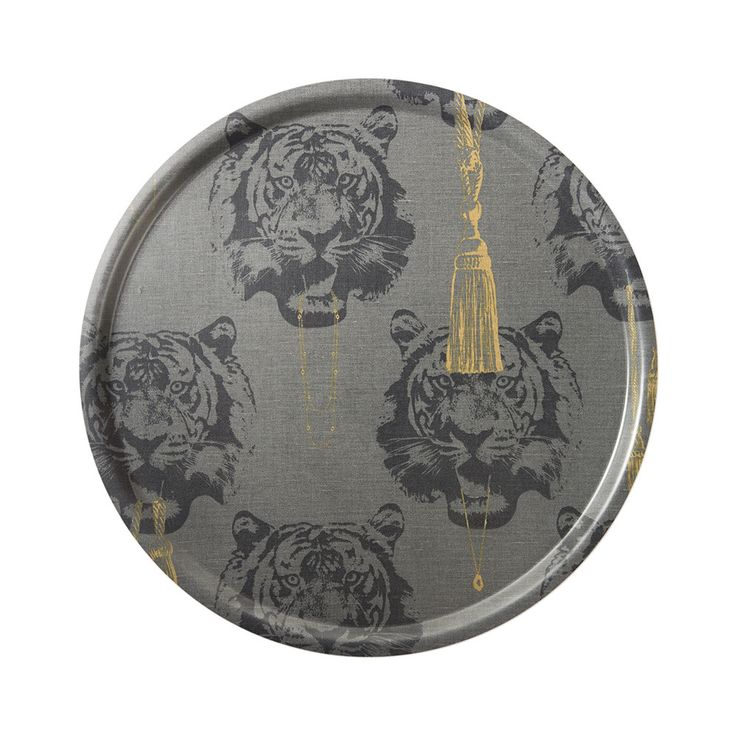 Discover the Studio Lisa Bengtsson Coco Tiger Tray - Grey at Amara