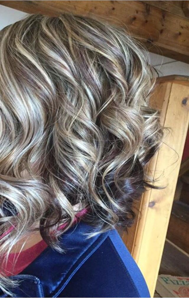 Blonde brown and violet swirl 2