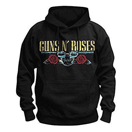 GUNS N' ROSES - APPETITE FOR DESTRUCTION (TOUR 1991) - OFFICIAL DA UOMO CON CAPPUCCIO - Nero, Small