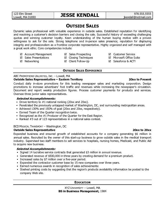 sample objectives for sales resume easy samples qodda outside free templates
