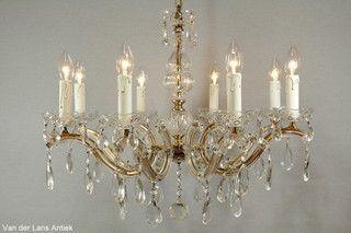 Kristallen Maria Theresia kroonluchter 26792 bij Van der Lans Antiek. Meer kristallen lampen op www.lansantiek.com