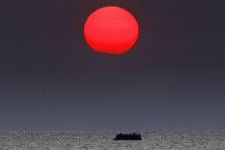 """http://widerimage.reuters.com/story/paths-to-europe """"The feelings and emotions are really strong, raw, including for me. It's a great moment to witness because they are arriving in a safe haven."""" Yannis Behrakis, Reuters Photographer"""