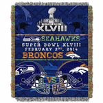 The Northwest has released their Super Bowl head to head tapestry.  This tapestry displays the two contenders of in the super bowl, Denver Broncos and Seattle Seahawks.  #broncos #seahawks #SuperbowlXLVIII