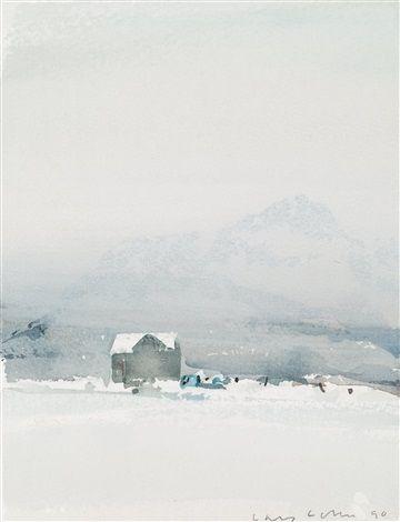 Det väntande huset by Lars Lerin